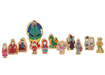 Wooden Fairytale Figures Add-On Set of 12