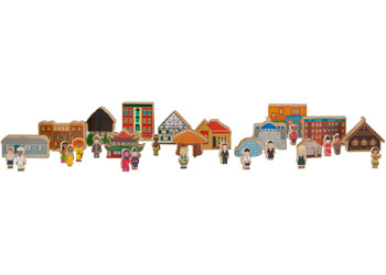 Multicultural Block Play Set – 33 pieces