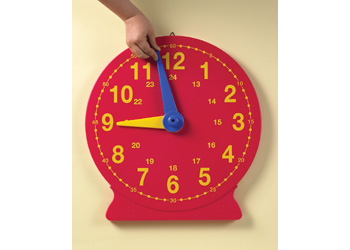 Magnetic Teaching Clock – 24 hour – 40cm – each