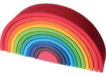 Large Wooden Rainbow 12 Pcs