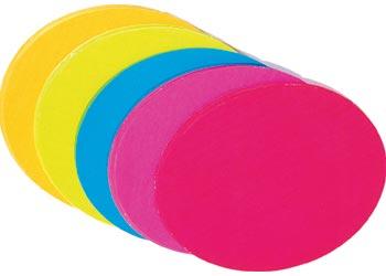 Flourescent Paper Circles 18cm  – 120 Pcs