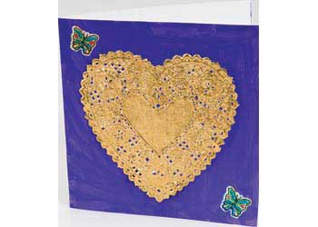 Small Gold Heart Shaped Doileys/Doilies – Pack of 12