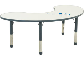 Ergerite Whiteboard Group Table – 154cm – 52-74cm high