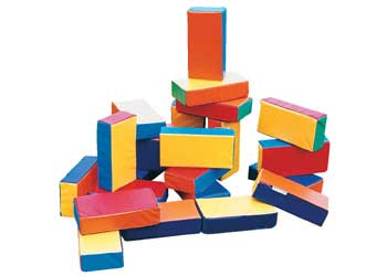 Soft Play Big Bricks Foam Vinyl 24 Piece Set Mta
