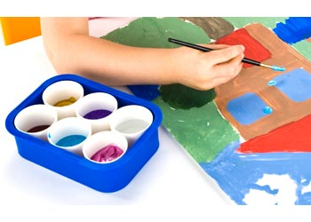 Paint Tray With 6 Pots