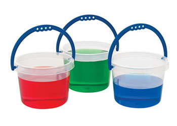 Clear Bucket with Coloured Handle