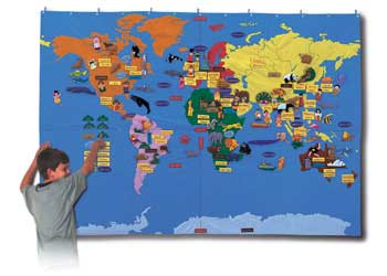 Flags maps globes giant world felt map with bag 170x240cm flags maps globes gumiabroncs Choice Image