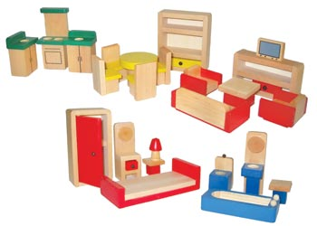 Wooden Doll House Furniture U2013 26 Pieces