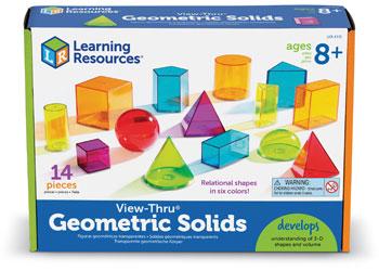 View-Thru Geometric Solids 14 Pcs