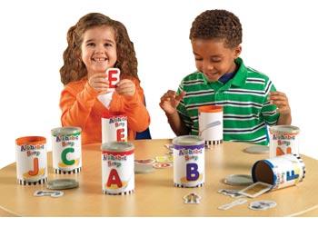Alphabet Soup Sorter Cans
