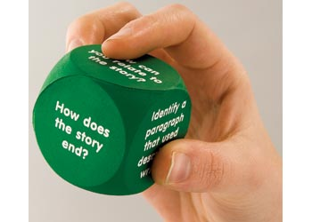 Reading Comprehension Foam Dice Set of 6