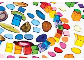 Plastic Mosaic Pieces – 454g