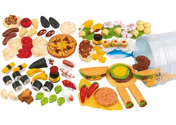 Multicultural Play Food Assortment – 100 pieces
