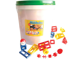 234 Piece Large Bucket With Lid Mobilo Free Shipping!