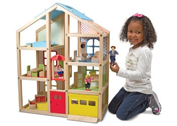 M D Hi Rise Doll House With Furniture Kesco Nz Catalogue