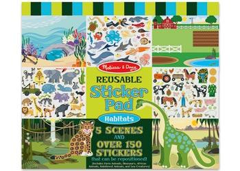 Melissa & Doug – Habitats Reusable Sticker Book