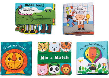 Colorful Plastic Coated Stimulate Vision Cloth Soft Baby Book Educational QL