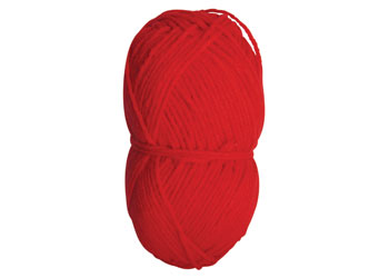 Acrylic Yarn Red 4 ply 100g Ball