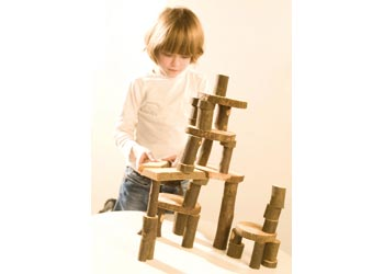 Wooden Tree Blocks – 36 pieces – Sanded and Oiled