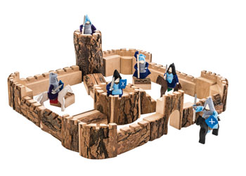 Wooden Castle With Knights Horses 44 Pieces Mta Catalogue