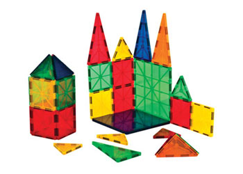 Translucent Magnetic Tiles Construction Set 32 Pieces