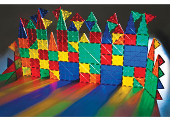 Translucent Magnetic Tiles Construction Set – 96 pieces