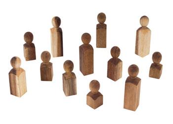 MTA Spaces – Omni People – Acacia Wood – Set of 12