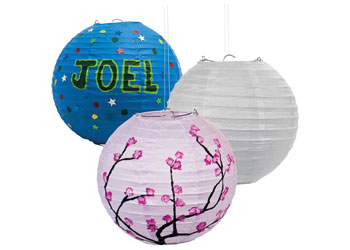 Small White Paper Lanterns – Pack of 10