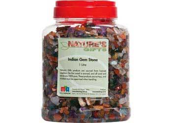 Natural Indian Treasure Gem Stones – 1 litre jars