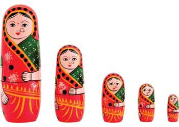 Nesting Indian Doll – 5 in 1