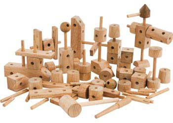 Wooden Construction Set – 85 pieces