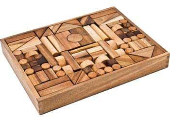 Small Wooden Unit Blocks – 117 pieces