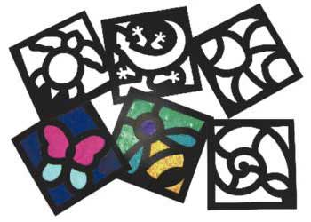 junior stained glass frames pack of 24