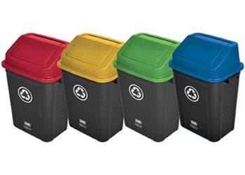 Set Of 4 Recycling Bins 30l Kesco Nz Catalogue