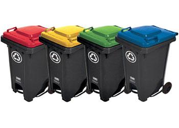 Set of 4 Recycling Bins – 60L