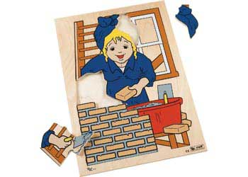 Life Wooden Puzzles – Bricklaying