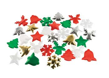 Christmas Puffy Shapes 30 Pieces