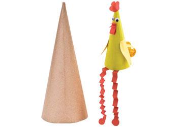 Paper Mache Cones 15cm – Pack of 6
