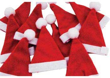 574a9a5feef6d Felt Santa Hats – Pack of 10 - MTA Catalogue