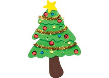 Elegant Christmas Tree Foam Kit Of 20   Craft Activities