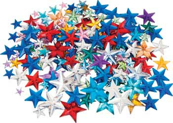 Multicoloured Star Rhinestones – Pack of 50