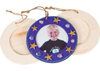 Round Wooden Frame – Pack of 10