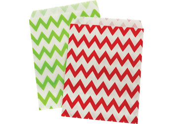 Christmas Coloured Paper Bags – Pack of 12