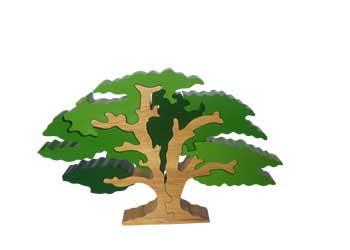 Oak Tree Wooden Block Puzzle 8 Pieces