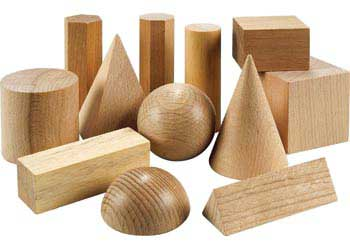 Wooden Geometric Solids – 12 Pieces