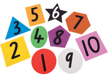 Shapes & Numbers Toss Mats