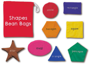 Shapes & Numbers Toss Mats & Bean Bags Kit