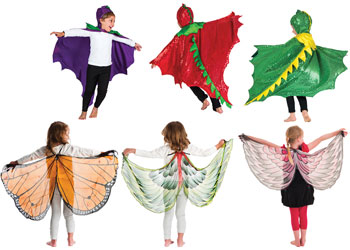 Dragons, Butterflies and Birds Capes Set of 6