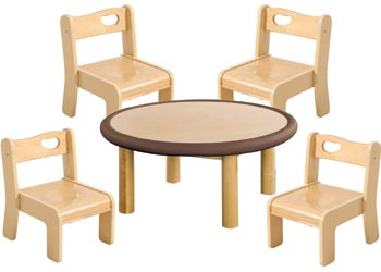 SafeSpace Round Table U0026 Chairs Set   SafeSpace Toddler Furniture