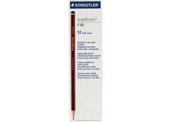 Staedtler Tradition Black Lead Pencils HB – Box of 12